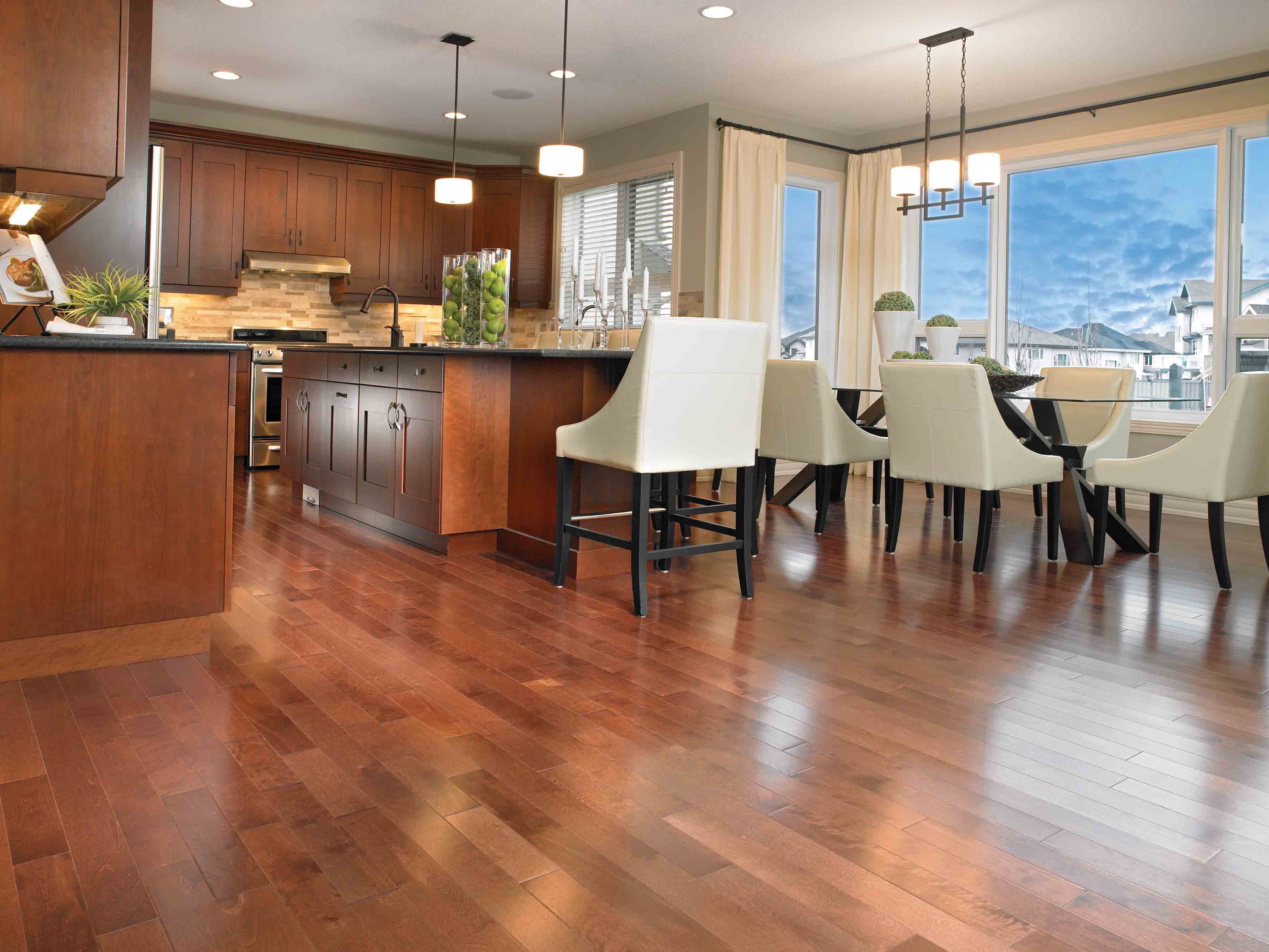 Hardwood floors in kitchen pictures Painted Wood Floors, Everything You Need To Know
