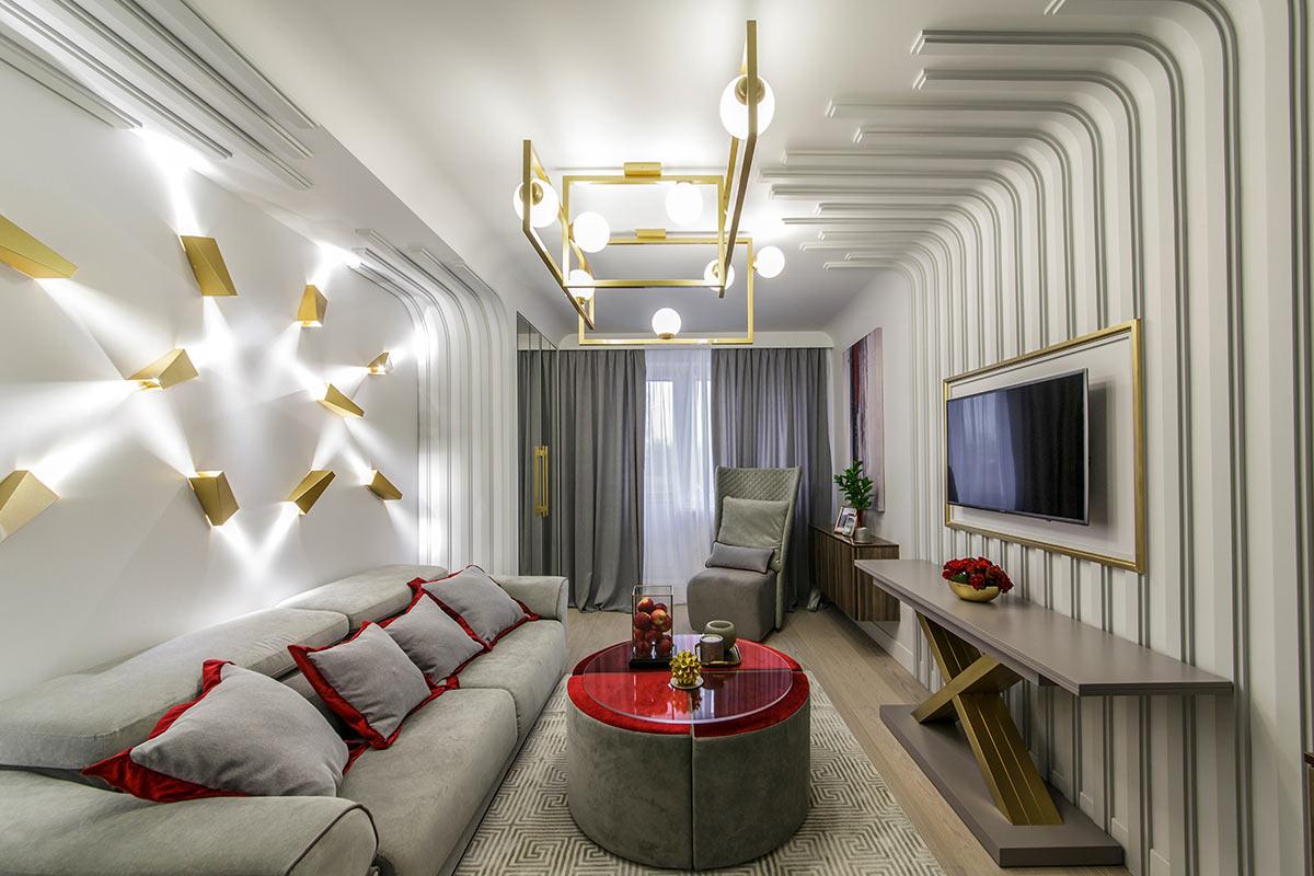 Дизайнерский ремонт однокомнатной квартиры фото полученных ножевых